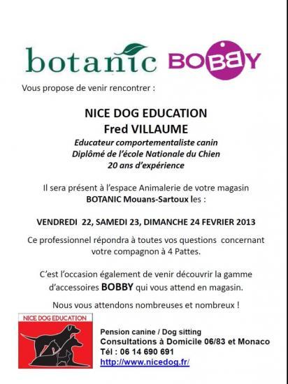 Educateur Dresser Comportementaliste canin Botanic 2013